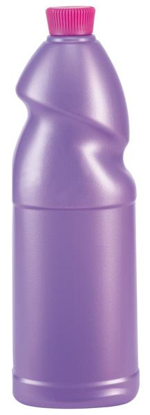 Plastic flask for maintenance products or detergents