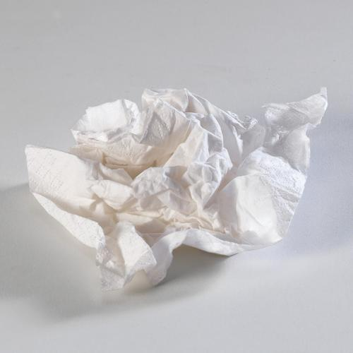 Dirty paper tissues