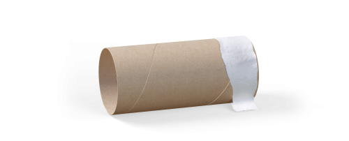 Cardboard rolls (used for toilet paper and kitchen paper)