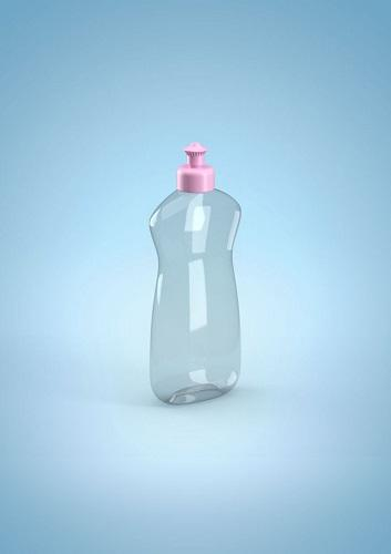 Plastic bottle for laundry detergent