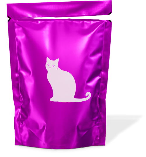 Pouches of wet cat food (such as Whiskas, etc.)